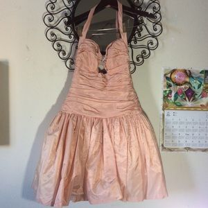 Cache Dresses - 80's Vintage Cache Pink Prom Dress